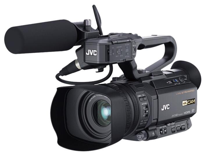 杰伟世(JVC)GY-HM258EC 4K手持专业录课摄像机 网络直播机 直播摄像机 内置编码器/4K/sdi输出