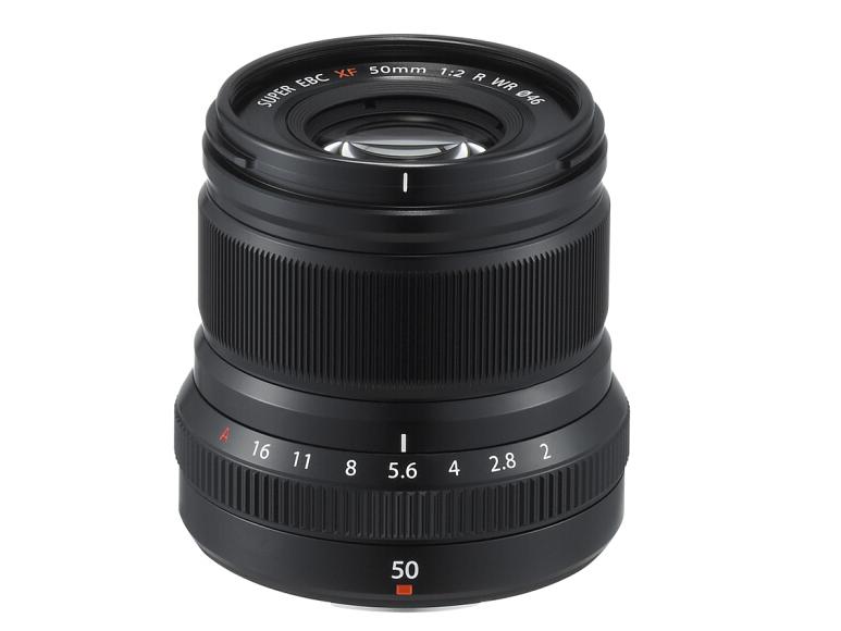 富士(FUJIFILM)XF50mm F2 R WR 中长焦定焦镜头 黑色 高速AF 时尚设计 小巧轻便